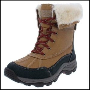 Clarks Leather Thinsulate Winter Boots Shoes 10M